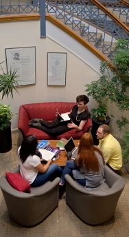 Students in the Smith College writing center