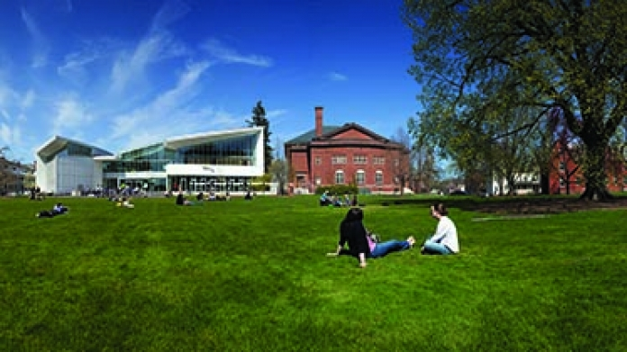 Smith College campus panorama