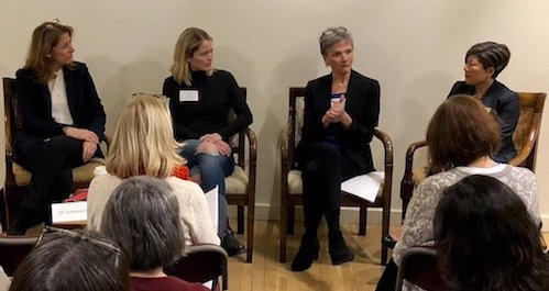 Panel discussion with Smith SSW professors and Smith College alumnae.