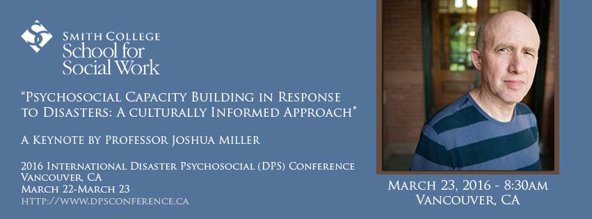Promotional image for Joshua Miller keynote at the 2016 DPS Conference in Vancouver